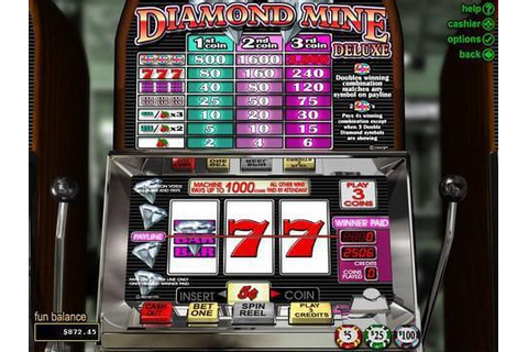 Play Online Diamond Mine Deluxe Slots With 300% Bonus at ...