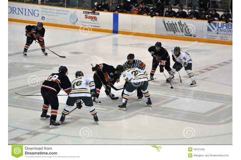 Face Off In Ice Hockey Game Editorial Image - Image of ...