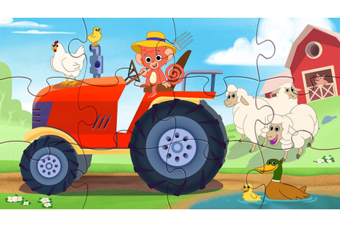 Tractor Puzzle | Puzzle Game for Kids | Farm Animals ...