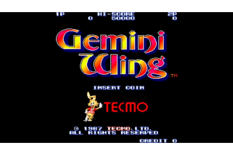 Gemini Wing 1987 Tecmo Mame Retro Arcade Games - YouTube
