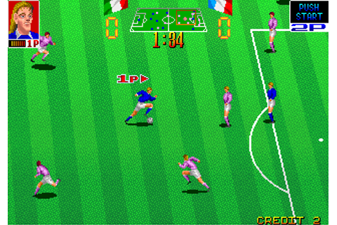 Football Champ arcade video game by Taito Corp. (1991)