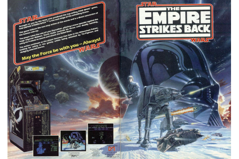 "1988 Star Wars ""Empire Strikes Back"" Arcade Game Ad"