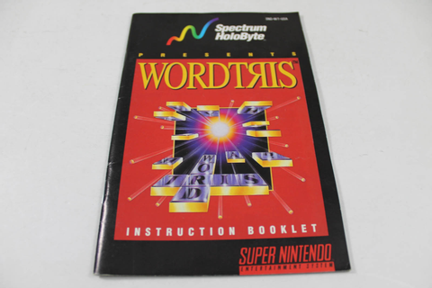 Manual - Wordtris - Snes Super Nintendo