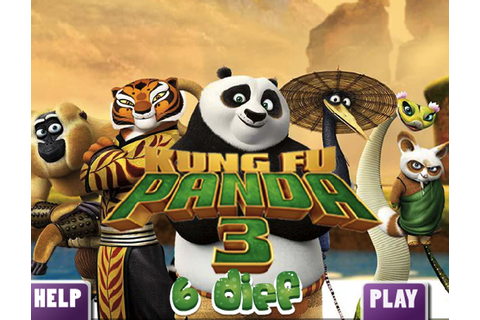KUNG FU PANDA 3 6 DIFFERENCES - KUNG FU PANDA GAMES