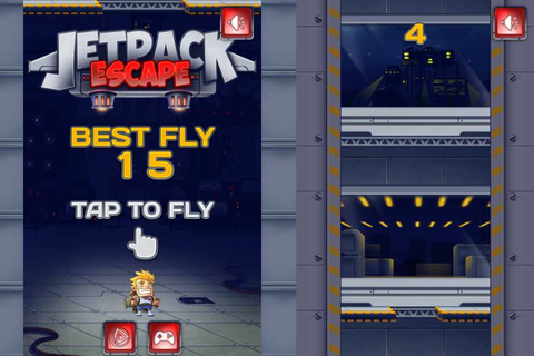 Jetpack Escape | iPhone & Android Arcade Games | PlayToMax