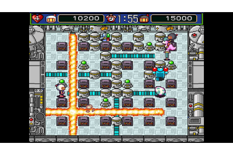 Super Bomberman 5 SNES 2 player Netplay game 2 (bad ending ...