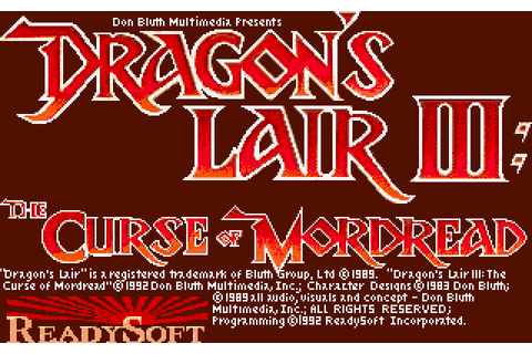 Скриншоты Dragon's Lair III: The Curse of Mordread на Old ...