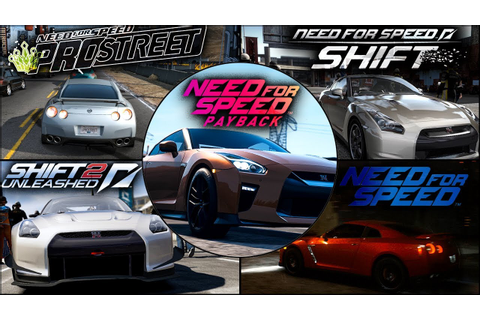 Nissan GTR Evolution in NFS Games - 1080pHD - YouTube