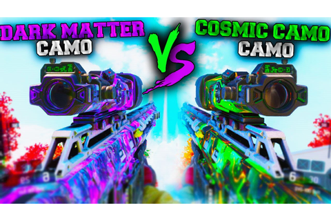"NEW *SECRET* ""COSMIC CAMO"" VS ""DARK MATTER"" CAMO! (WHICH ..."