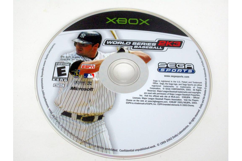 World Series Baseball 2K3 game for Microsoft Xbox | The ...