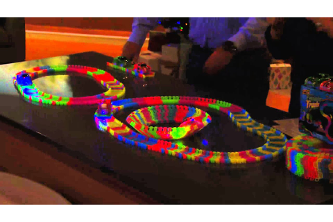 Twister Trax 12ft Glow in the Dark Set w/ 2 Light-Up Cars ...
