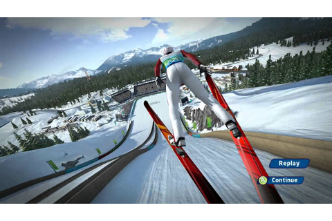 Vancouver 2010 game - ski jumping - gameplay - YouTube