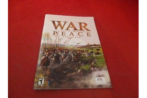 War and Peace 1796-1815 Computer PC Game Instruction ...