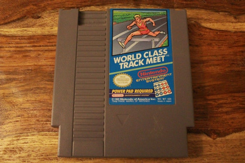 Vintage World Class Track Meet Nintendo Game With Dust Jacket/