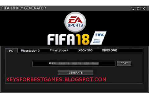 FIFA 18 KEYGEN SERIAL KEY FOR FULL GAME DOWNLOAD ...