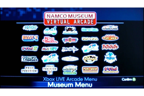 Review of Namco Museum Virtual Arcade for Xbox 360 by ...