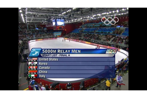 Short Track Speed Skating - Men's 5000M Relay - Turin ...