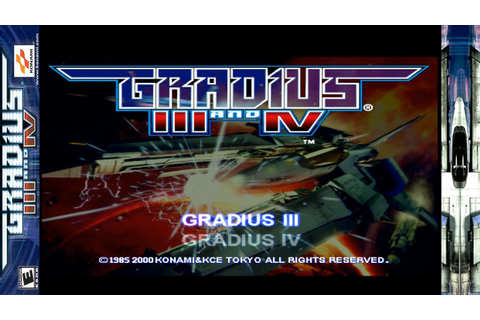 Gradius III and IV Game Sample - Playstation 2 - YouTube
