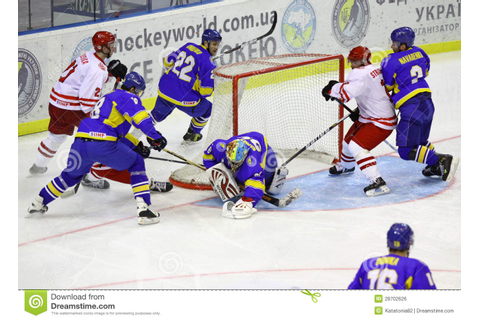 Ice-hockey Game Ukraine Vs Poland Editorial Photo - Image ...