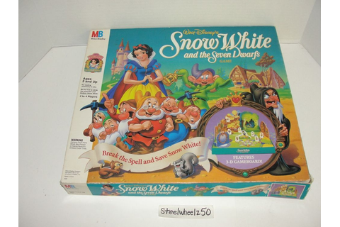 Snow White and the Seven Dwarfs Board Game COMPLETE Disney ...