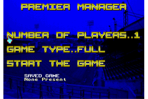 Play Premier Manager Sega Genesis online | Play retro ...