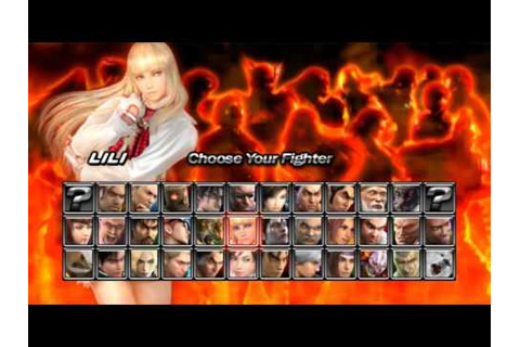 Tekken 5 Dark Resurrection PSP Character Select - YouTube