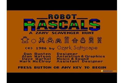 Robot Rascals gameplay (PC Game, 1986) - YouTube