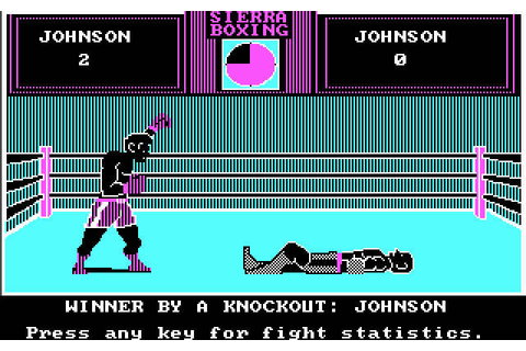 Download Sierra championship boxing sports for DOS (1987 ...