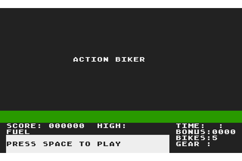 Action Biker (1985) by Mastertronic Atari 400/800 game