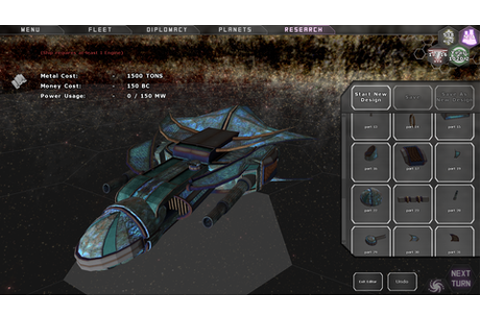 Predestination 3D Ship Designer - A Turn-Based Space 4X ...