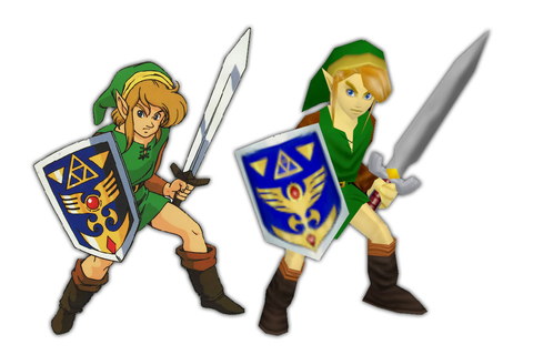 A Link to the Past, now drawn N64 style - N64 Squid