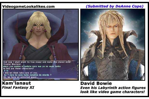 "Top 10 ""David Bowie Is in Every Video Game"" Lookalikes ..."