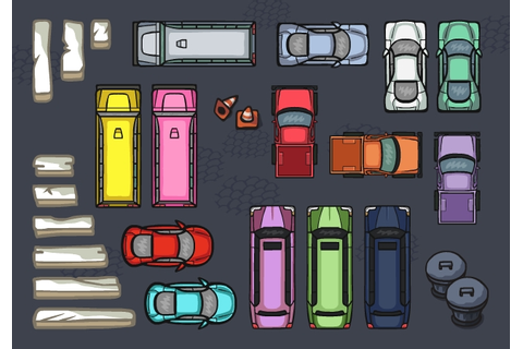 Herd of penguins: Parking Lot game - iOS, concept illustration