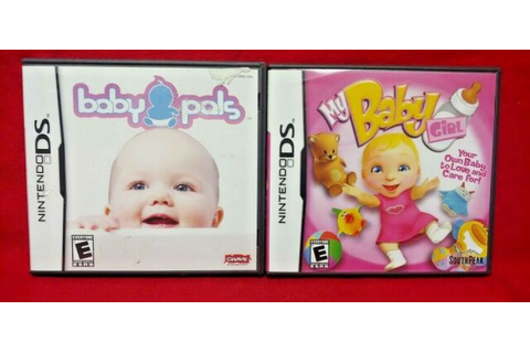 My Baby Girl + Baby Pals - Nintendo DS Lite 3DS 2DS 2 Game ...