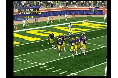 ncaa football 2k2 dreamcast stanford at michigan - YouTube