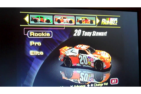 NASCAR Rumble PS1 All Drivers and Cars (Rookie) - YouTube