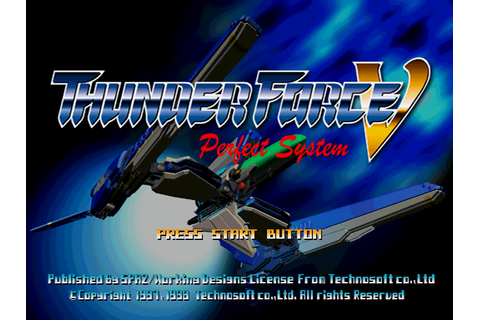 Thunder Force V - Perfect System [U] [SLUS-00727] ROM ...