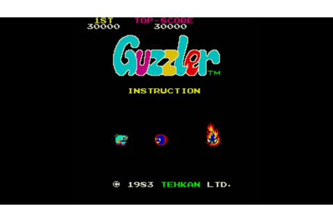 Guzzler 1983 Tehkan Mame Retro Arcade Games - YouTube