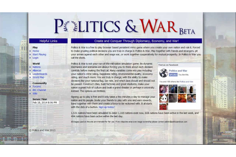 Politics & War : In Game Economy & Nation Tiering - YouTube