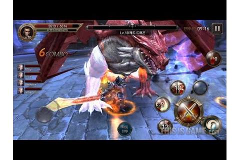 레이븐 드래곤레이드 Korean mobile game 'Raven' Dragon-raid play ...