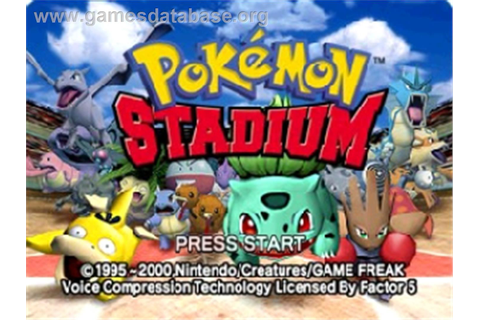 Pokemon Stadium - Nintendo N64 - Games Database