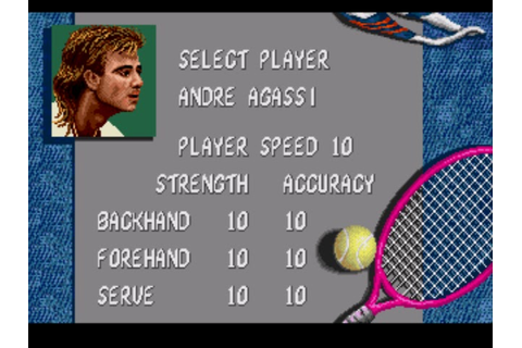 Classic Videogame Hacking: Stats Cheat - Andre Agassi ...