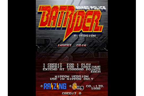 Armed Police Batrider Arcade Stage 1 Music - YouTube