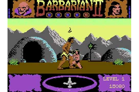 Commodore 64 Barbarian 2 - The Dungeon of Drax (1988 ...