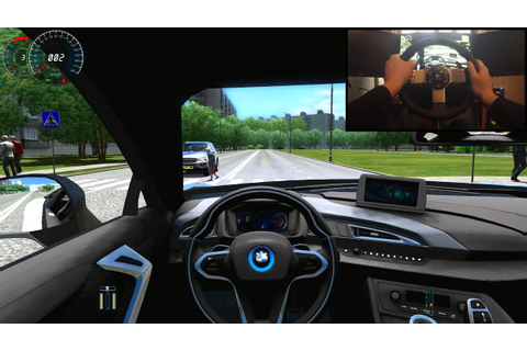 BMW i8 & G27 + Crash City Car Driving 1.3.3 HD - YouTube