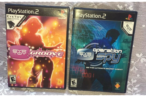 EyeToy: Groove & OPERATION SPY EYE TOY GAME LOT Sony ...