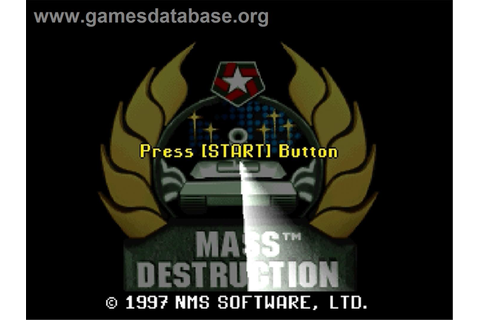 Mass Destruction - Sega Saturn - Games Database