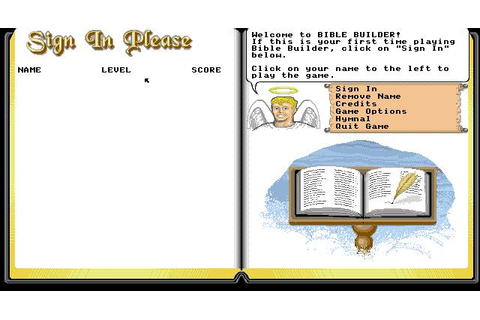 Bible Builder Download (1992 Educational Game)