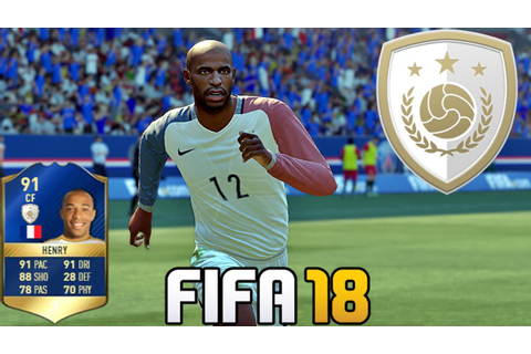FIFA 18 | New Icon | Henry | Game Face | Card Rating - YouTube