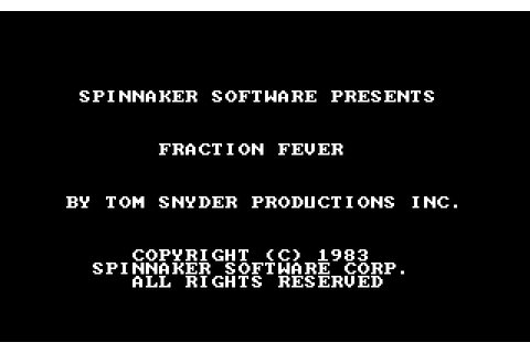 Fraction Fever (1984) by Tom Snyder Productions MS-DOS game